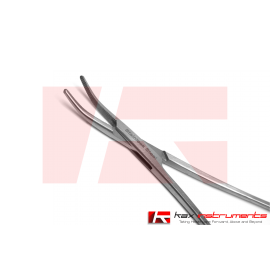 """HALSTED MOSQUITO Hemostat Forceps 5"""" inch Curved Transversely Serrated"""